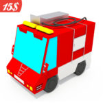 Fire Truck Cartoon Low Poly | Продается 15$